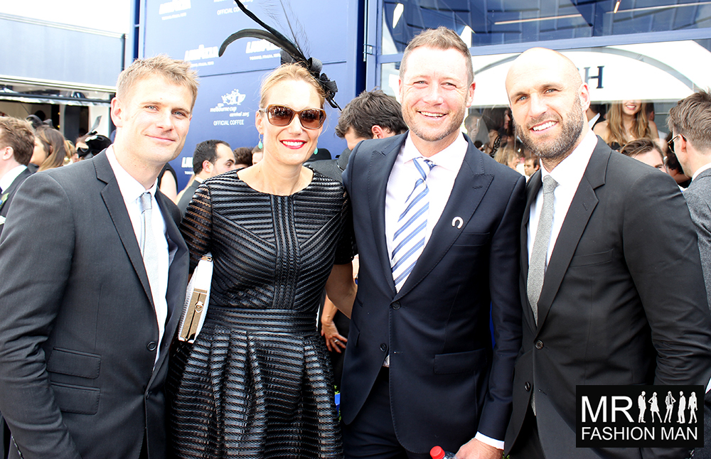From the right, Chris Judd and friends