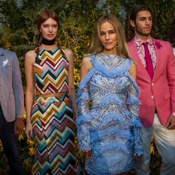 Isabel Lucas (in blue) at the MSFW 2016 launch and ambassador announcement. Photo: Scott McNaughton for The Weekly Review