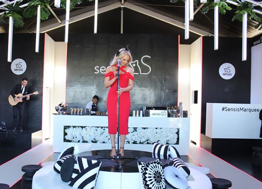 The fabulous Samantha Jade set to belt out another hit in the Sensis Marquee!
