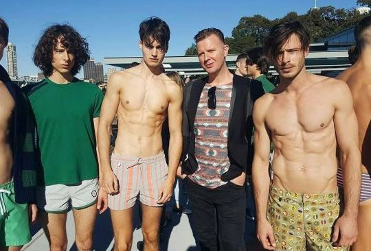 Hanging with the models after the Katama runway show at Andrew Boy Charlton Pool. This show was a highlight of the week, it was such an beautiful day and with the Naval Base in the background made for a stunning location to show off the sporty summery style!